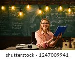 secretary works in school... | Shutterstock . vector #1247009941