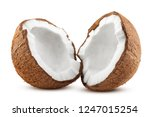 coconut  isolated on white... | Shutterstock . vector #1247015254