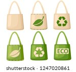 green and beige fabric cloth or ... | Shutterstock .eps vector #1247020861