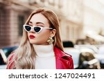 outdoor close up fashion... | Shutterstock . vector #1247024491