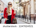 outdoor fashion portrait of... | Shutterstock . vector #1247024521