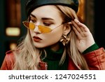 outdoor close up fashion...   Shutterstock . vector #1247024551