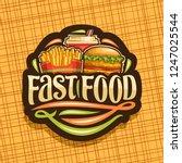 vector logo for fast food ... | Shutterstock .eps vector #1247025544