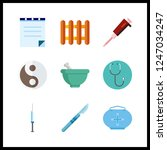 9 therapy icon. vector...   Shutterstock .eps vector #1247034247