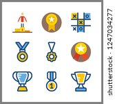 9 victory icon. vector... | Shutterstock .eps vector #1247034277