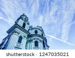 spires of the cathedrals of... | Shutterstock . vector #1247035021