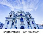 spires of the cathedrals of... | Shutterstock . vector #1247035024