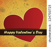 valentine s day card | Shutterstock .eps vector #124703725