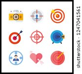 9 aiming icon. vector... | Shutterstock .eps vector #1247041561