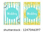 bridal shower card with dots... | Shutterstock .eps vector #1247046397