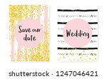 bridal shower card with dots... | Shutterstock .eps vector #1247046421