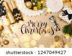 christmas decoration background ... | Shutterstock . vector #1247049427
