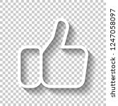 hand with thumb up  like....   Shutterstock .eps vector #1247058097