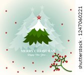 merry christmas and happy new... | Shutterstock .eps vector #1247060221