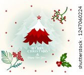 merry christmas and happy new... | Shutterstock .eps vector #1247060224