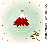 merry christmas and happy new... | Shutterstock .eps vector #1247060227