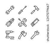 tools line icons set. outline... | Shutterstock .eps vector #1247079667