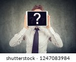 anonymous woman covering face... | Shutterstock . vector #1247083984