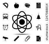atom icon. simple glyph vector... | Shutterstock .eps vector #1247088814