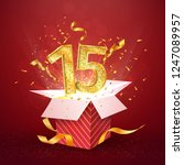 15 th years anniversary and... | Shutterstock .eps vector #1247089957