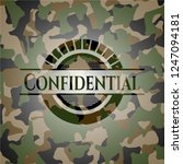 confidential on camouflaged... | Shutterstock .eps vector #1247094181