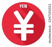 vector financial yen currency... | Shutterstock .eps vector #1247101021