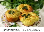 patrick's day buns or muffins... | Shutterstock . vector #1247103577