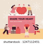 a christmas card concept that... | Shutterstock .eps vector #1247112451