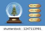 snow globe with a a christmas... | Shutterstock .eps vector #1247113981