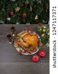 rustic style roasted christmas...   Shutterstock . vector #1247117371