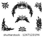 set of christmas ornament... | Shutterstock .eps vector #1247123194