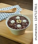 korean food red bean porridge  | Shutterstock . vector #1247127811
