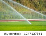 watering for green football... | Shutterstock . vector #1247127961