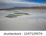 panoramic scenery of salt lakes ... | Shutterstock . vector #1247129074