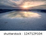 panoramic scenery of salt lakes ... | Shutterstock . vector #1247129104
