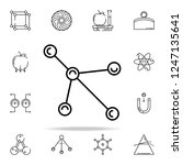 molecules icon. physics icons... | Shutterstock .eps vector #1247135641