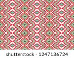ikat seamless pattern. vector... | Shutterstock .eps vector #1247136724