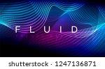 neon glowing fluid wave lines ... | Shutterstock .eps vector #1247136871