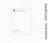 gray cross pattern. geometric... | Shutterstock .eps vector #1247136934
