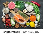 healthy food clean eating... | Shutterstock . vector #1247138107