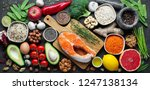 healthy food clean eating... | Shutterstock . vector #1247138134