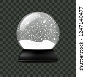 realistic snow globe isolated... | Shutterstock .eps vector #1247140477
