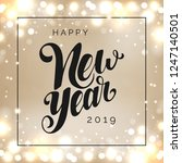 happy new year 2019 vector... | Shutterstock .eps vector #1247140501