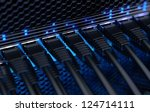 modern network switch with... | Shutterstock . vector #124714111