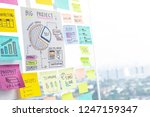 sharing ideas concepts with... | Shutterstock . vector #1247159347