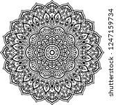 mandala pattern black and white ... | Shutterstock .eps vector #1247159734