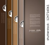 3d design with brown banners | Shutterstock .eps vector #124716061