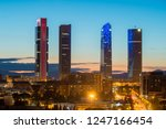 madrid four towers financial... | Shutterstock . vector #1247166454