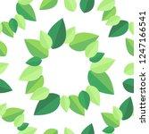 beauty leaf seemless parttern ... | Shutterstock .eps vector #1247166541
