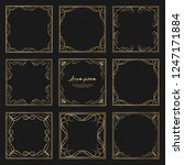 set of golden dividers vintage... | Shutterstock .eps vector #1247171884